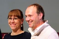 Katja Meier und Wolfram Günther (B90/Die Grünen): Erst Spitzenkandudaten, nun Verhandler. Foto: Michael Freitag