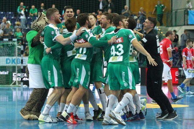 Die DHfK-Handballer führen die Heimtabelle der Bundesliga an. Foto: Jan Kaefer