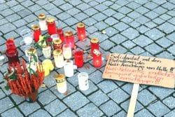 Gedenkstätte auf dem Leipziger Richard Wagner Platz. Foto: Michael Freitag