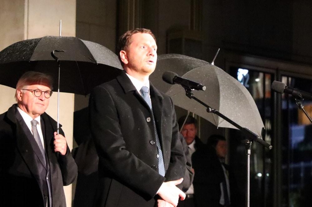 Michael Kretschmer, Ministerpräsident Sachsens beim Lichtfest in Leipzig (Archiv). Foto: Michael Freitag