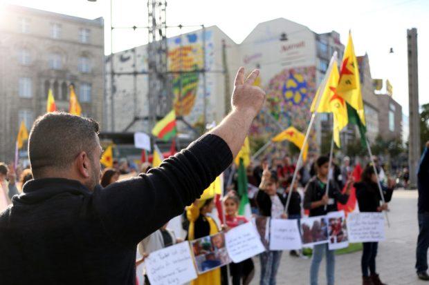 Solidarität mit den kämpfenden Kurden in Syrien. Foto: Alexander Böhm