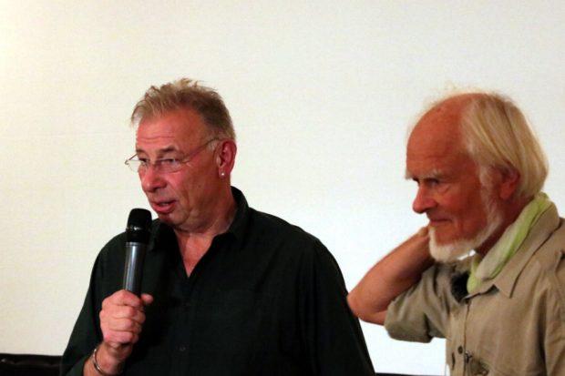 Wolfgang Stoiber vom veranstaltenden NUKLA e.V. und Bernd Gercken. Foto: L-IZ.de
