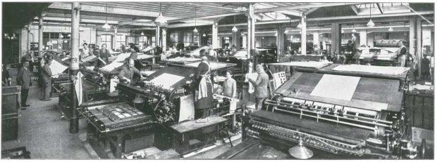 Der einstige Buchdruck-Maschinensaal von Breitkopf & Härtel in der Nürnberger Straße. Foto: Breitkopf & Härtel