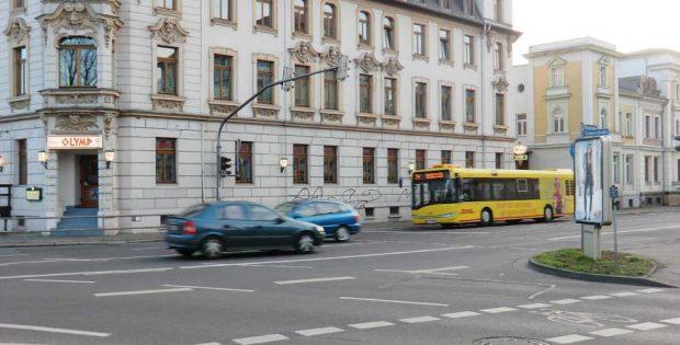 "Die Situation an der Rödelstraße direkt vorm ""Olymp"". Foto: Marko Hofmann"
