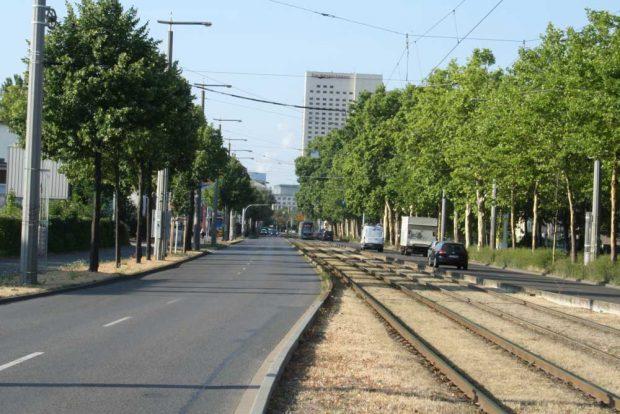 Eutritzscher Straße Richtung Innenstadt. Foto: Ralf Julke