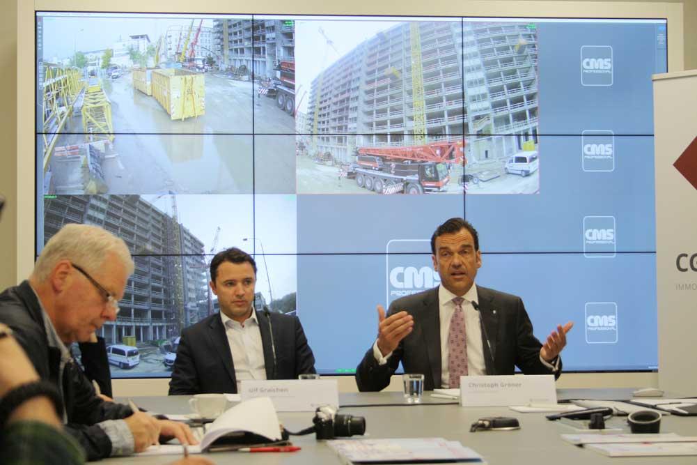 Pressegespräch mit Christoph Gröner (rechts) und Ulf Graichen, dem Leiter der Leipziger Niederlassung der CG Gruppe. Foto: Ralf Julke