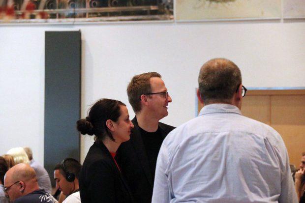 Christin Melcher und Norman Volger (Landessprecher der Grünen). Foto: L-IZ.de