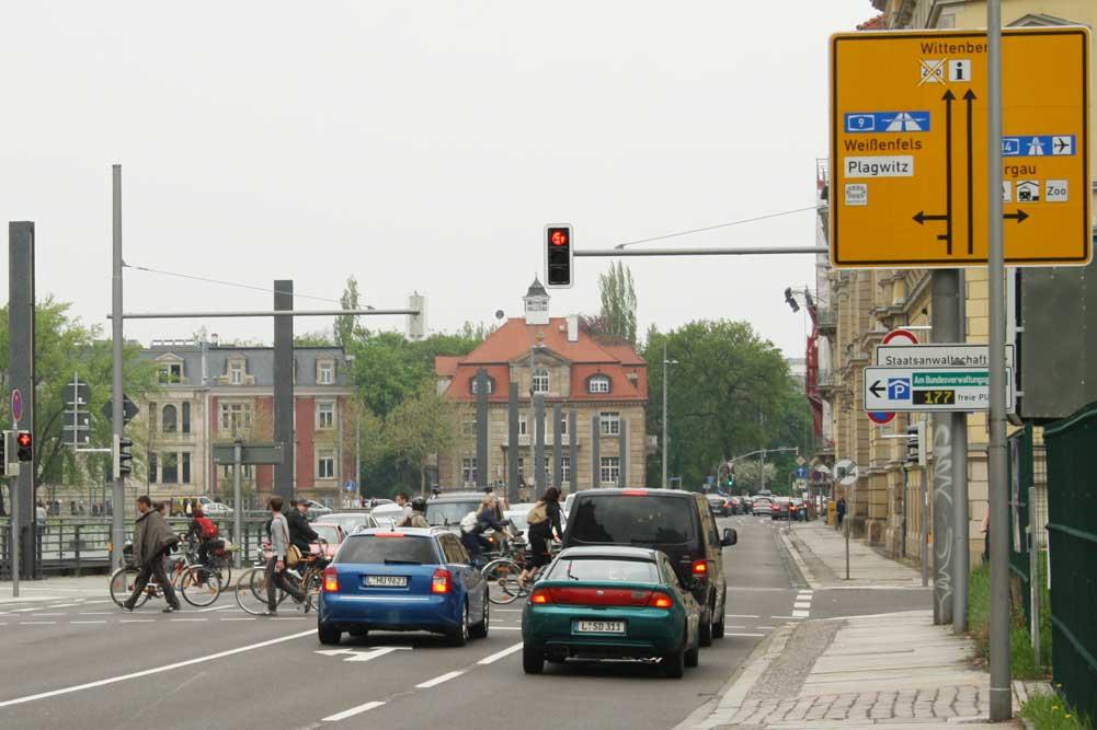 Harkortstraße Richtung Martin-Luther-Ring. Foto: Ralf Julke