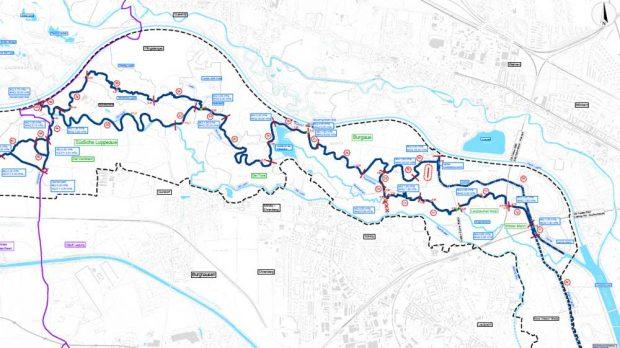 Die Vorzugsvarianten für die Revitalisierung der Flussläufe in der Nordwestaue. Karte: Stadt Leipzig