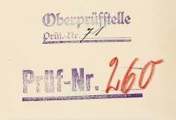 Stempel der Oberprüfstelle. Foto: Deutsche Nationalbibliothek