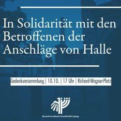 Aufruf zur Versammlungam 10. Oktober 2019 in Leipzig