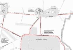Die fehlenden Radwege bei Göbschelwitz und Hohenheida (gestrichelte Linien). Karte: Stadt Leipzig