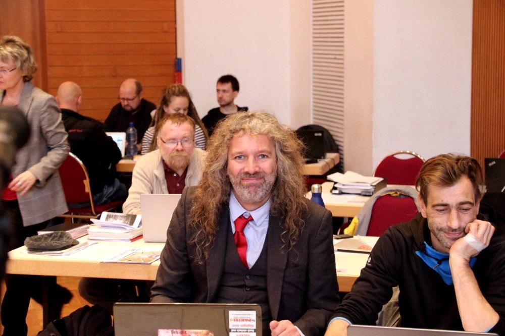 Seit 2019 im Stadtrat: v.l. Thomas Kumbernuß und Marcus Weiss (Die PARTEI). Foto: L-IZ.de
