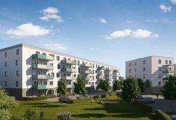 Der geplante Block B an der Landsberger Straße. Visualisierung: Vonovia