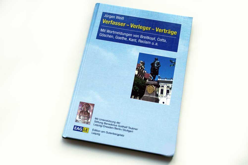 Jürgen Weiß: Verfasser - Verleger - Verträge. Foto: Ralf Julke