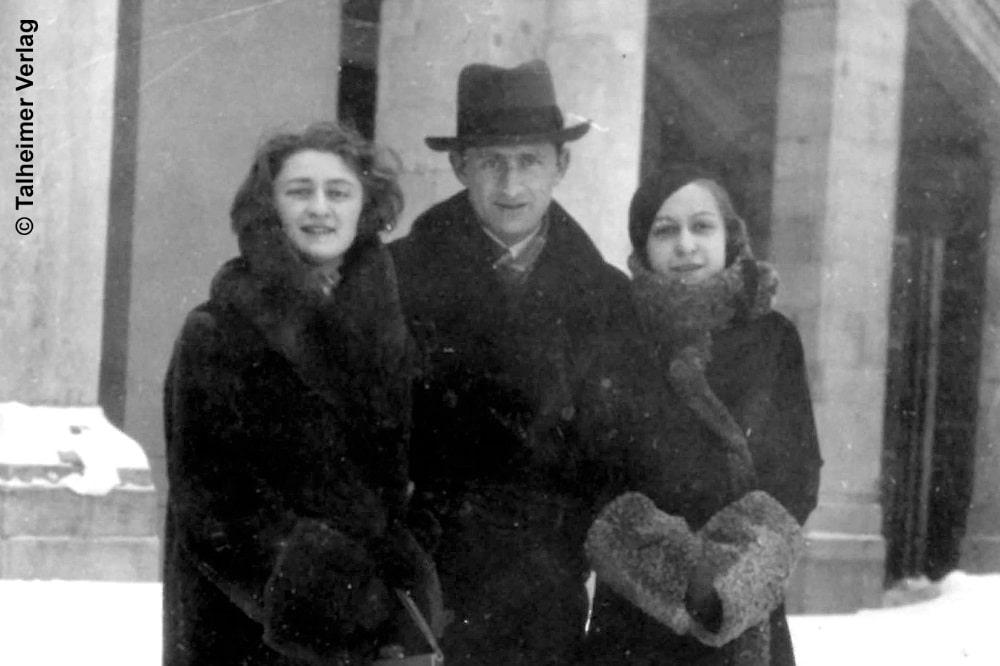 Karola Bloch (links) mit Ihrem Bruder Izio Piotrkowski und ihrer Schwägerin Andziula Tagelicht in Wien(1928) © Talheimer Verlag