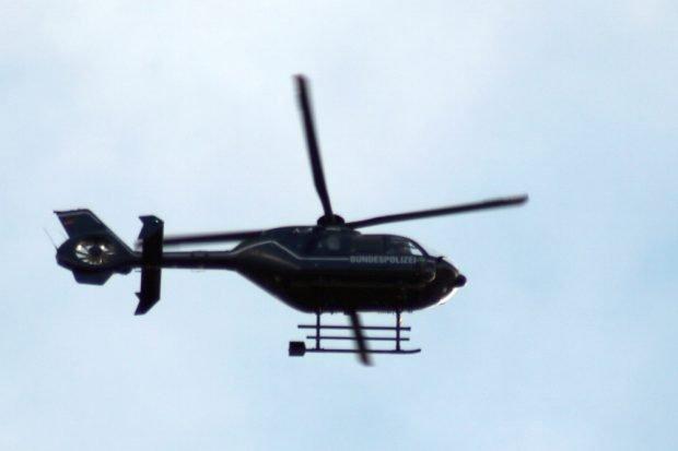 Ein gut behüteter Wandertag: Stundenlang kreiste ab etwa 9 Uhr der Hubschrauber der Bundespolizei. Foto: Michael Freitag