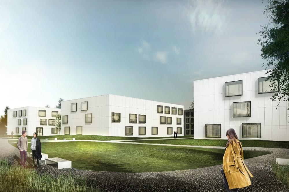 Visualisierung Laborfluegel © CODE UNIQUE Architekten BDA