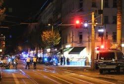 Am 12. November 2019 ab 17 Uhr in der Eisenbahnstraße großes Polizeiaufgebot und Kreuzungssperren. Foto: L-IZ.de