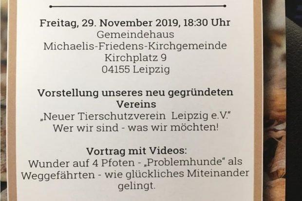 Auszug Flyer. Quelle: Neuer Tierschutzverein Leipzig e.V.