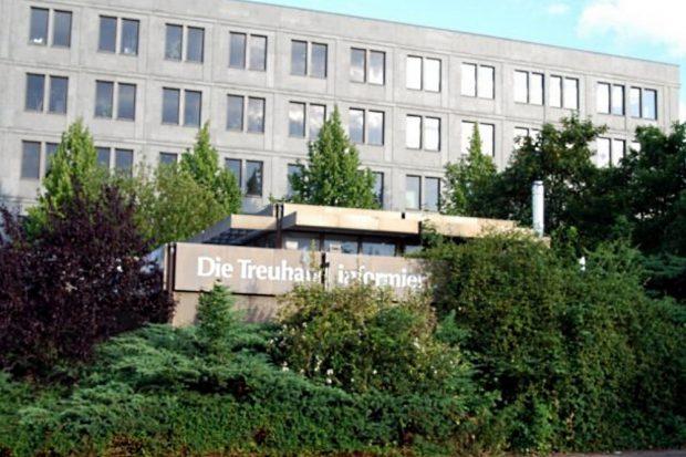 Die Treuhandanstalt auf der Alten Messe Leipzig. Foto: Michael Freitag