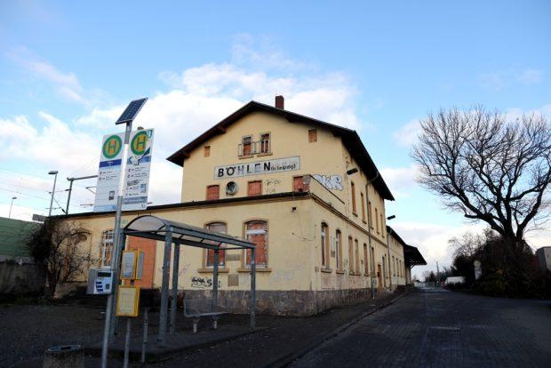 Nach dem Start um 9 Uhr ab Leipzig, die erste Station in Böhlen. Foto: Michael Freitag
