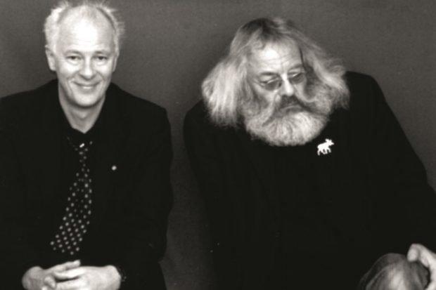 Klaus Bittermann und Harry Rowohlt. Foto: Klaus Bittermann, privat