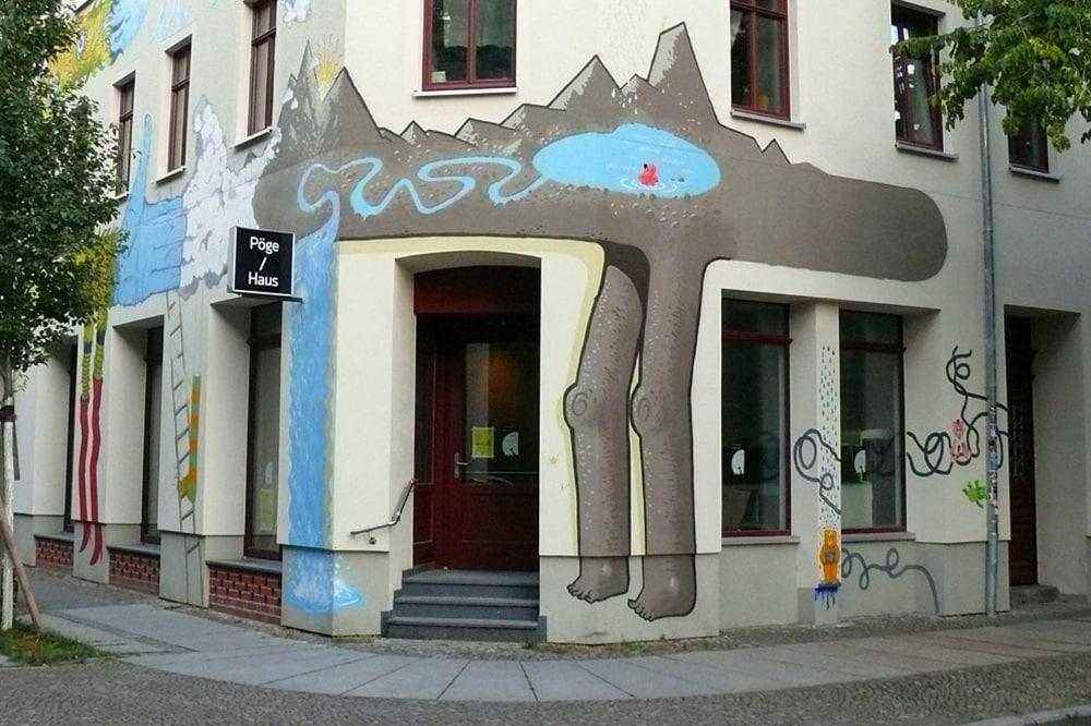 Das Pöge-Haus am Neustädter Markt. Quelle: Pöge-Haus e.V.