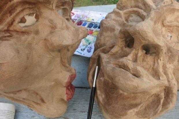 """Maskenworkshop. Quelle: Soziokulturelles Zentrum """"Die VILLA"""""""