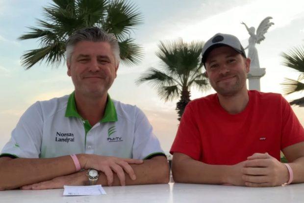 Palmenvideo mit Norman Landgraf (li.) und Martin Hoch. Screenshot: Sportpunkt