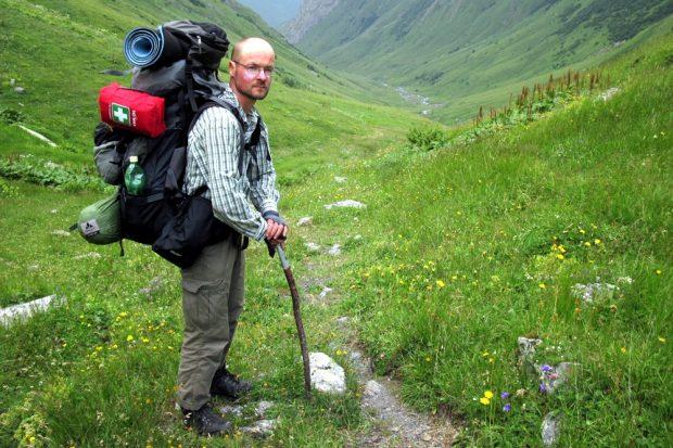 Stefan Otto im Georgischen Assa-Tal. Foto: Privat