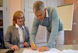 Gudrun Paul und Matthias Berger. Foto: Stadt Grimma