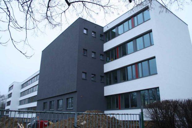 Das neue Design der einstigen Erich-Kästner-Schule. Foto: Ralf Julke