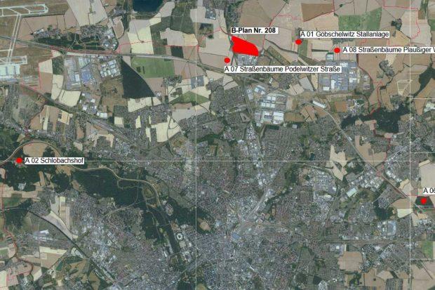 """Die geplanten Ersatzmaßnahmen für """"Seehausen II"""". Karte: Stadt Leipzig"""