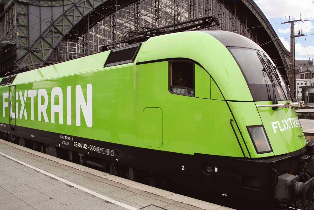 Flixtrain-Lokomotive. Foto: Flixbus