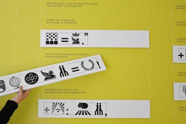 Die Genesis als Bildgeschichte. Foto: Museum für Druckkunst