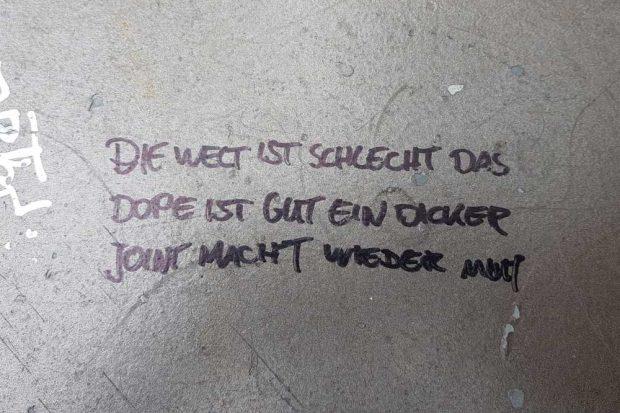 Ein Grafitti, entdeckt in Leipzig. Foto: Marko Hofmann