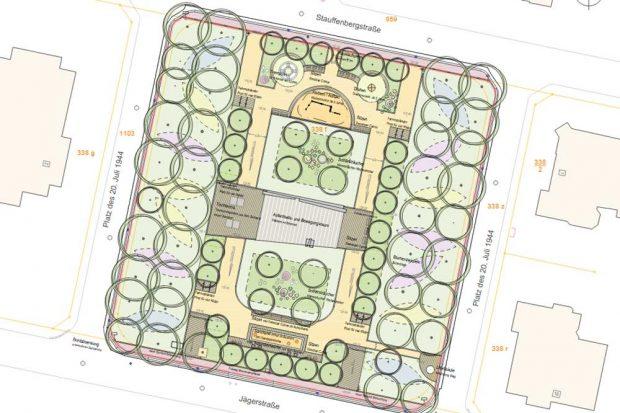 Die künftige Gestaltung des Platzes des 20. Juli 1944. Karte: Stadt Leipzig