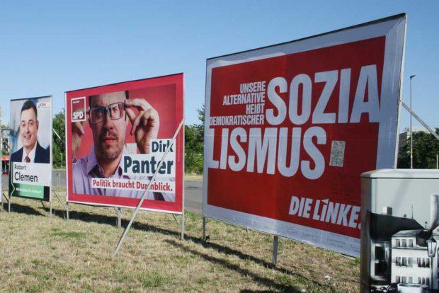 Wahlplakat der Linken zur Landtagswahl 2019. Foto: Ralf Julke