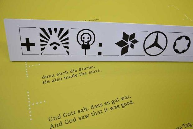 Und Gott sah, dass es gut war. Foto: Museum für Druckkunst