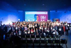 Die Preisträger im BMWi-Wettbewerb EXIST-Potentiale. Foto: BMWi/Bildkraftwerk