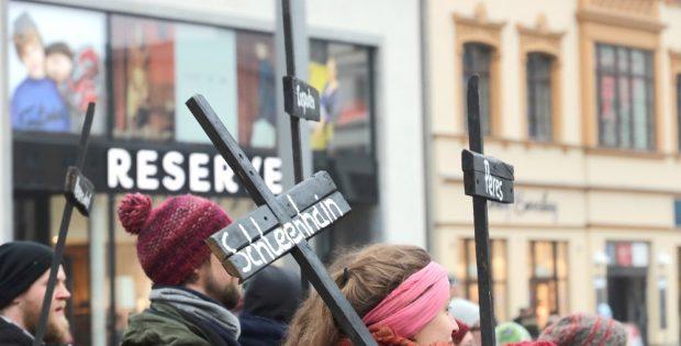 Anti-Kohle Proteste in Leipzig für Pödelwitz - Bildergalerien und Reportagen aus Pödelwitz machen das Thema sichtbar. Foto: Michael Freitag