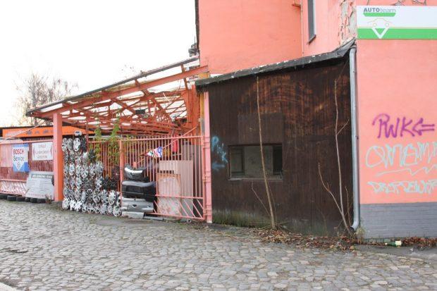 Das Gebäude der Punkwerkskammer an der Berliner Straße. Foto: LZ