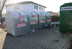 Die Wertstoffinsel in der Lindenstraße. Foto: Stadtverwaltung Eilenburg