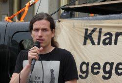 Grünen-Stadtrat Jürgen Kasek auf einer Anti-AfD-Demo im Mai 2019. Foto: L-IZ.de