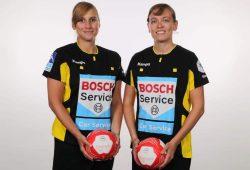 Das Leipziger Schiedsrichterinnen-Gespann Jennifer Eckert (li.) und Maria Ludwig pfeift seit 2018 in der 1. Bundesliga. Foto: Michael Kleinjung