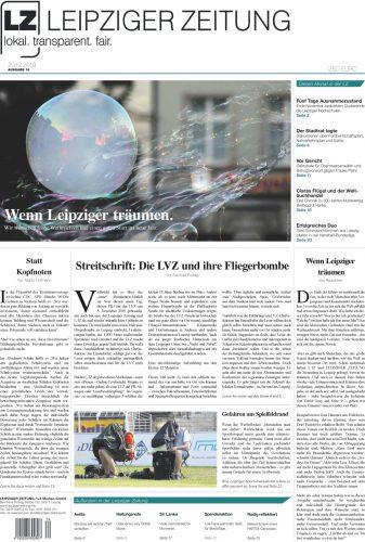 Die LEIPZIGER ZEITUNG Nr. 74, Ausgabe Dezember 2019. Zum Lesen klicken.