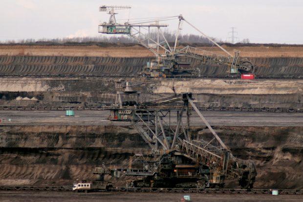 MIBRAG-Tagebau Peres im Kohlerevier Vereinigtes Schleenhain. Foto: Michael Freitag