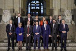 Ministerpräsident Michael Kretschmer stellt neue Regierung vor © Nikolai Schmidt