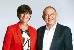 Beim Mitgliedervotum vorn: Saskia Esken & Norbert Walter-Borjans Foto: Werner Schüring | SPD.de